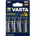 Pila Alcalina Varta Energy Tipo AA LR6 Pack 4
