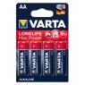 Pila Alcalina Varta Longlife MAX Power Tipo AA LR6 Pack 4