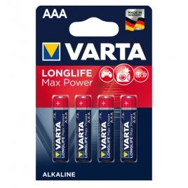 Pila Alcalina Varta Longlife MAX Power Tipo AAA LR03 Pack 4