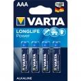 Pila Alcalina Varta Longlife Power Tipo AAA LR03 Pack 4