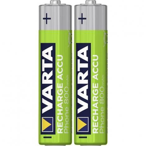 Pila Recargable Varta Phone Tipo AAA 800MAH Pack 2