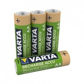 Pila Recargable Varta Recycled Tipo AA 2100MAH Pack 4