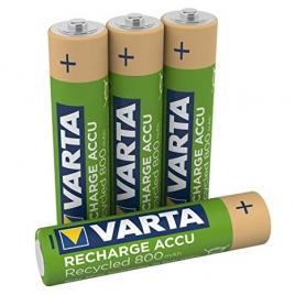 Pila Recargable Varta Recycled Tipo AAA 800MAH Pack 4