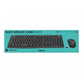 Teclado + Mouse Logitech Wireless MK295 Silent Ingles