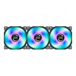 Ventilador 12CM 120X120x25mm Mars Gaming RGB Black KIT 3U