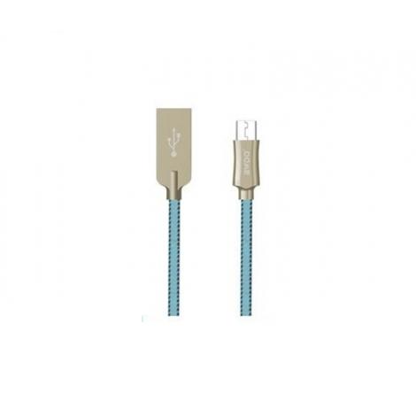 Cable Kablex USB 2.0 a Macho / Micro USB B Macho 1M 2.4A Trenzado Blue