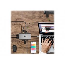 Puerto Replicador USB-C Acer HDMI + VGA + RJ45 + USB-C + 3Xusb 3.0 + SD + Micro SD + Jack