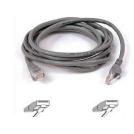 Cable Kablex red RJ45 CAT 5 5M Grey