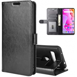 Funda Movil Flip Cover Leather para TCL 10L/10 Lite Black