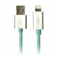 Cable Silver HT USB / Lightning Luxury 1.5M Blue