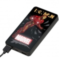 Bateria Externa Universal Silver HT 6.000MAH Iron MAN LED
