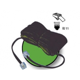 Cable Kablex Telefonico RJ11 5M Black