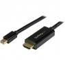 Cable Startech Mini DisplayPort Macho / HDMI Macho 3M Ultra HD 4K Black