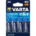 Pila Alcalina Varta Longlife Power Tipo AA LR6 Pack 4