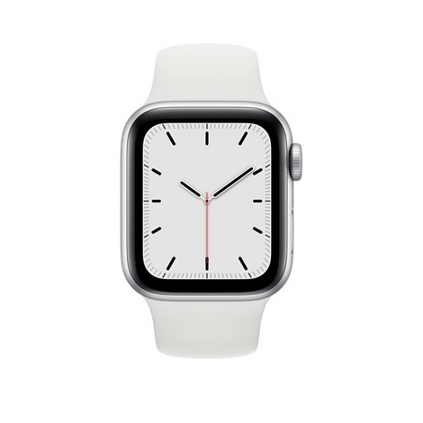Apple Watch Serie se GPS 40MM Silver Aluminium + Correa Sport White