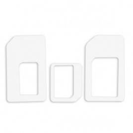 Adaptador Universal HT SIM para Nanosim Y Microsim White