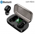 Auricular + MIC Cool Dual POD Earbuds Display Bluetooth Black