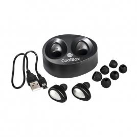 Auricular + MIC Coolbox Mini Coolair Bluetooth Black
