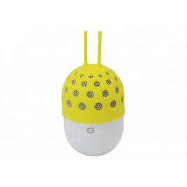 Altavoz Bluetooth Conceptronic Impermeable con LUZ LED 3W Yellow
