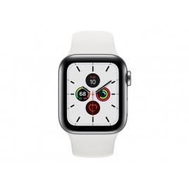 Apple Watch Serie 5 GPS + 4G 40MM Stainless Steel + Correa Sport White