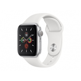 Apple Watch Serie 5 GPS 40MM Silver Aluminium + Correa Sport White