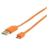Cable Kablex USB 2.0 a Macho / Micro USB B Macho 1M Orange