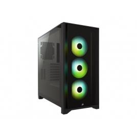 Caja Mediatorre ATX Corsair Icue 4000X RGB Cristal Templado Black