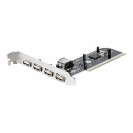 Controladora Approx USB 2.0 4P EXT + 1P INT PCI