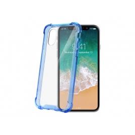 Funda Movil Back Cover Celly Armor Transparente/Blue para iPhone X