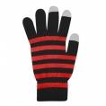 Guantes HT Pantalla Tactil Black/Red Talla L