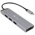 HUB Helix USB-C 4 Puertos USB 3.0 Black