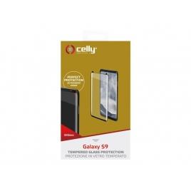 Protector de Pantalla Celly Cristal Templado Marco Black para Samsung Galaxy S9
