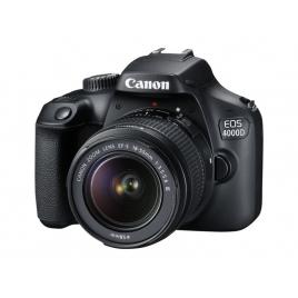 Camara Digital Canon EOS 4000D 18 Mpixel 3X Zoom EF-S 18-55 Black + Bolsa + SD 16GB