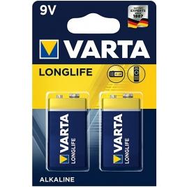 Pila Alcalina Varta Longlife Tipo 9V 6LR61