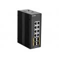 Switch D-LINK DIS-300G-12SW 10/100/1000 8 Puertos + 4P SFP Gigabit