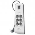 Regleta Belkin 6 Tomas + 2 USB White 1.5M Interruptor