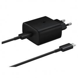 Cargador USB-C Samsung 45W Carga Rapida + Cable USB-C Black para Casa