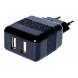 Cargador USB Conceptronic 5V 2A Doble Black para Casa