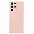 Funda Movil Samsung Silicone Cover Pink para Samsung Galaxy S21 Ultra