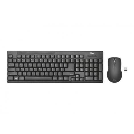 Teclado + Mouse Trust Wireless Ziva Black
