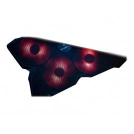 "Base Refrigeradora Verbatim Gaming Surefire 17"" 4 Ventiladores LED red Black"