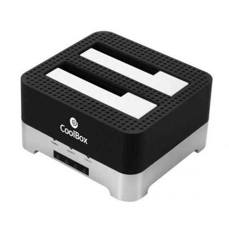"Base de Conexion Disco Duro Coolbox Duplicadock 2 USB 3.0 Sata 2.5"" 3.5"""