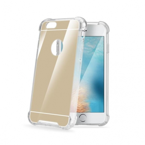 Funda Movil Back Cover Celly Armor Mirrow Gold para iPhone 7