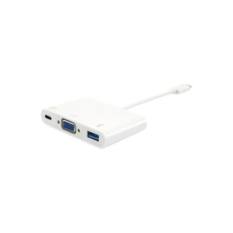 Puerto Replicador Equip USB-C Macho a VGA Hembra + USB 3.0