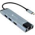 Puerto Replicador USB-C Helix HDMI + RJ45 + 2Xusb 3.0 + USB-C