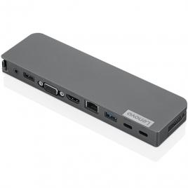 Puerto Replicador USB-C Lenovo HDMI + RJ45 + VGA + USB 2.0 + USB 3.0 + USB-C + Jack