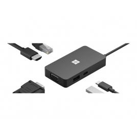 Puerto Replicador USB-C Microsoft HDMI + RJ45 + VGA + USB 3.0 + USB-C