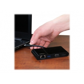 Puerto Replicador USB-C Startech HDMI + RJ45 + VGA + USB 3.0