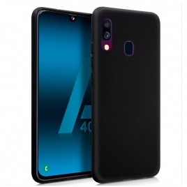Funda Movil Back Cover Cool Silicona Black para Samsung Galaxy A40