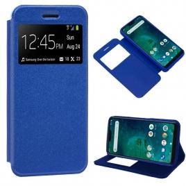 Funda Movil Cool Leather Window Blue para Xiaomi mi A2 Lite / 6 PRO